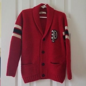 Italian-designed boys wool cardigan sweater